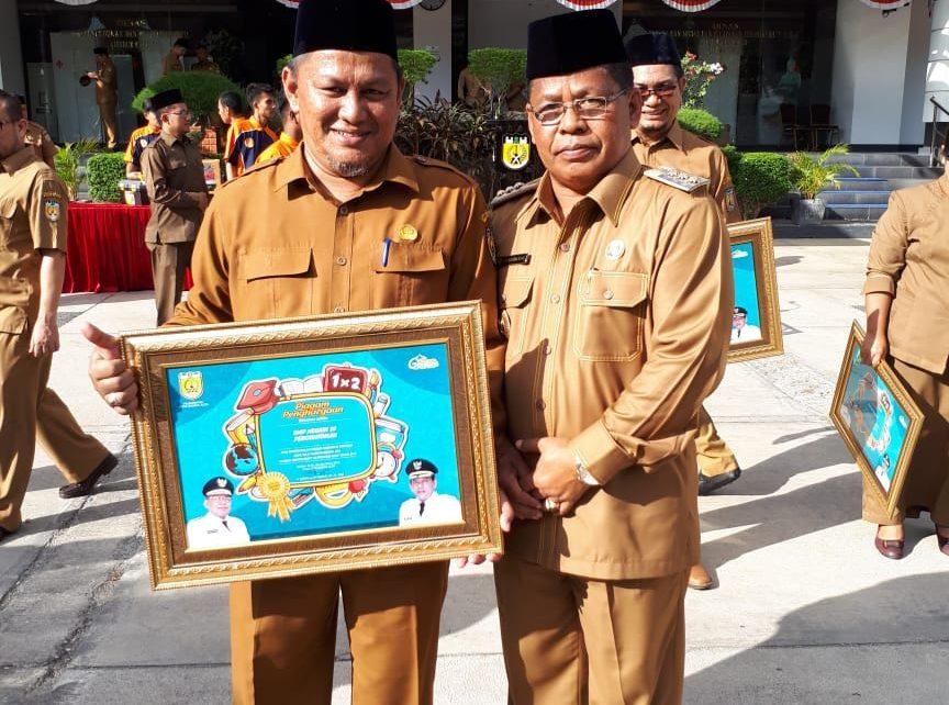 Penghargaan Peraih Nilai Ujian Nasional (UN) Tingkat SMP/Sederajat Tertinggi Se-Provinsi Aceh 2019